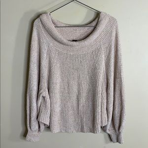 Free People crop style scoop neck sweater